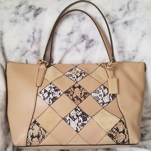 Coach Ava tote in snake embossed patchwork